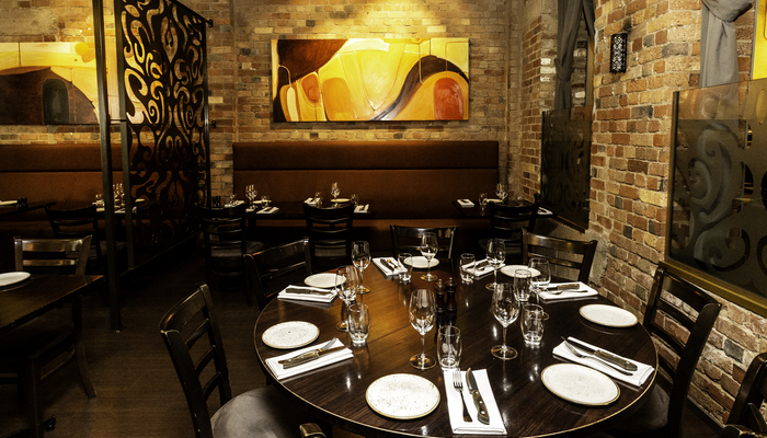 Intimate dining for small groups